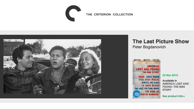 Criterion releases THE LAST PICTURE SHOW