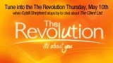 Tune into the The Revolution Thursday, May 10th when Cybill Shepherd stops by to chat about The Client List. The Revolution airs weekdays 2–3:00 pm ET and 1-2 pm PT...